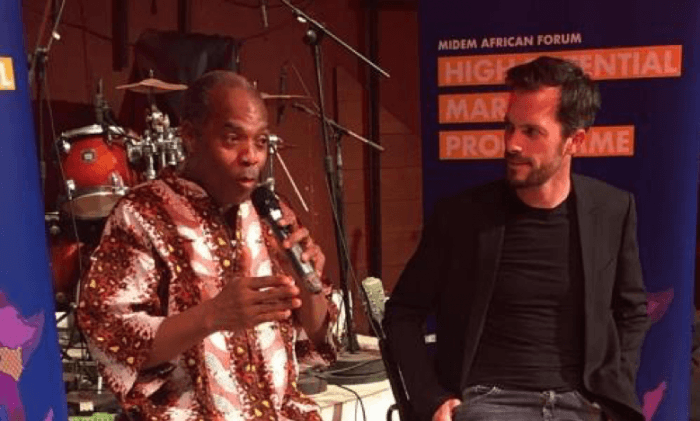 In the picture: Femi Kuti and Alexandre Deniot, Director MIDEM
